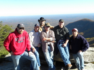The Cabin Guys on top of Shumont Mountain