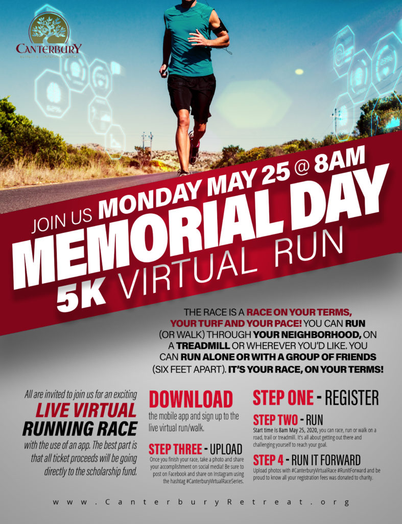 Memorial Day 5K run at Canterbury retreat